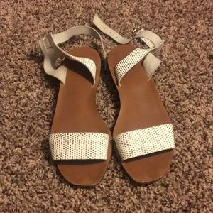 Madewell wooden ankle wrap sandals